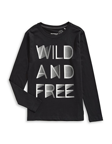 Manguun Wild and Free T-Shirt-BLACK-Large