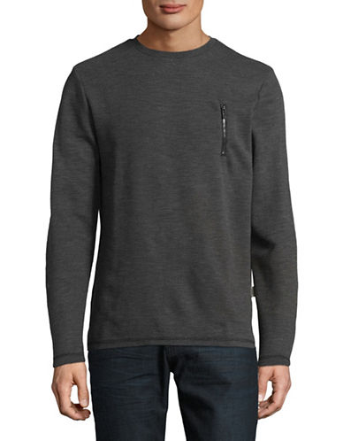 Manguun Long Sleeve Tee-GREY-Medium