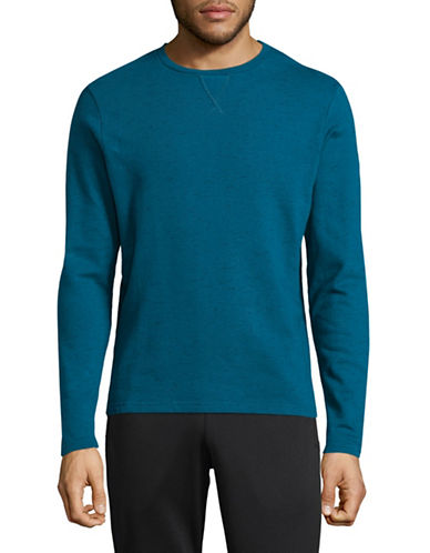 Manguun French Terry Long Sleeve Tee-LIGHT BLUE-X-Large