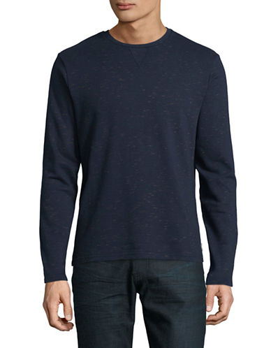 Manguun French Terry Long Sleeve Tee-BLUE-Small