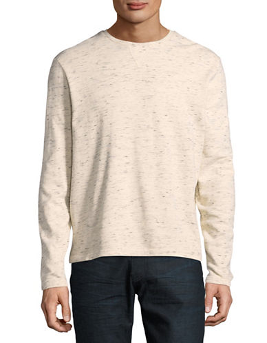 Manguun French Terry Long Sleeve Tee-NATURAL-Large
