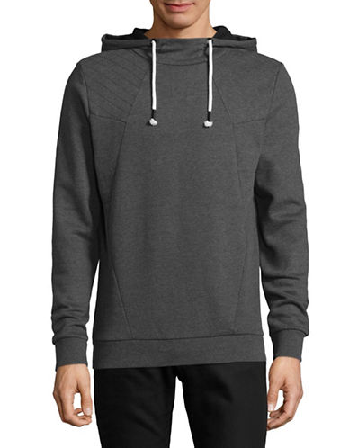Manguun Hooded Pullover-GREY-Small