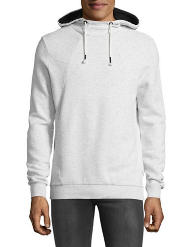 Manguun Hooded Pullover-WHITE-Medium