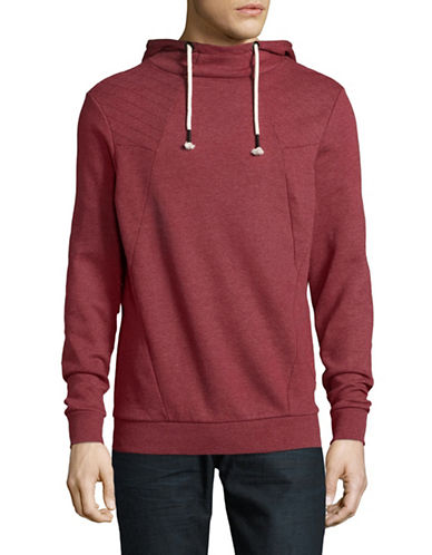 Manguun Hooded Pullover-RED-Large