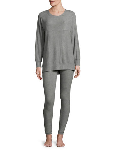 Lord & Taylor Ribbed Sweater-GREY-Medium