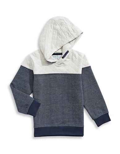 Bob Der Bar Contrast Quilt Pullover Hoodie-BLUE-2