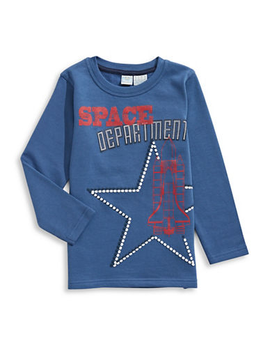 Bob Der Bar Fleece-Back Graphic Top-BLUE-5-6