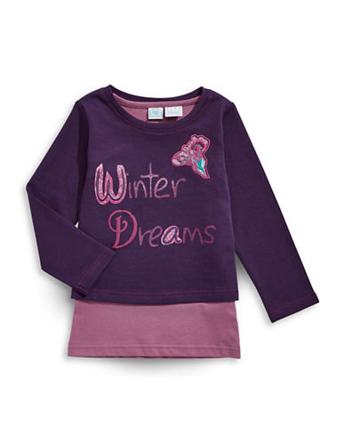 Bob Der Bar Kids Two-Piece Popover Sweatshirt-PURPLE-2T