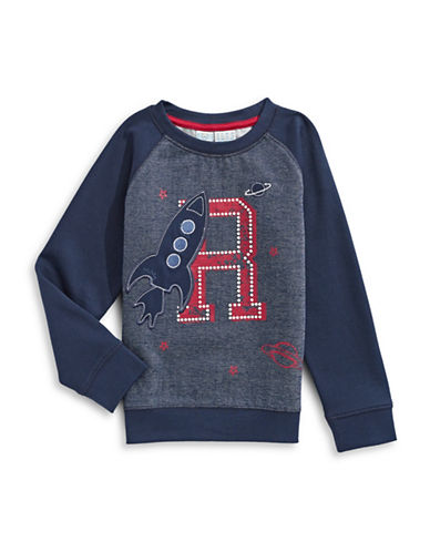 Bob Der Bar Rocket Graphic Raglan Sweatshirt-BLUE-7