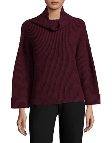 Lord & Taylor A-Line Funnel Neck Sweater-BEGONIA-X-Large