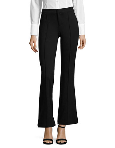 Lord & Taylor High-Waist Bootcut Ponte Pants-BLACK-Medium