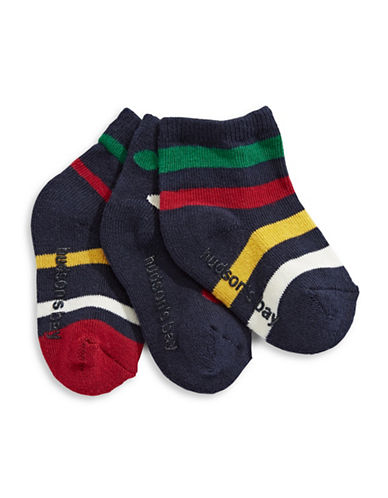 HudsonS Bay Company Three-Pack Baby Socks-NAVY-6-12 Months