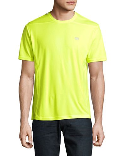 Manguun Printed Stretch Tee-YELLOW-Medium