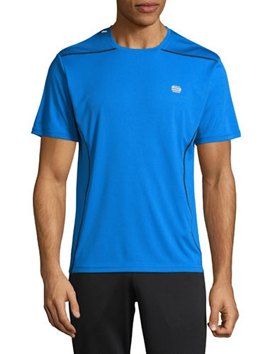 Manguun Printed Stretch Tee-BLUE-Medium