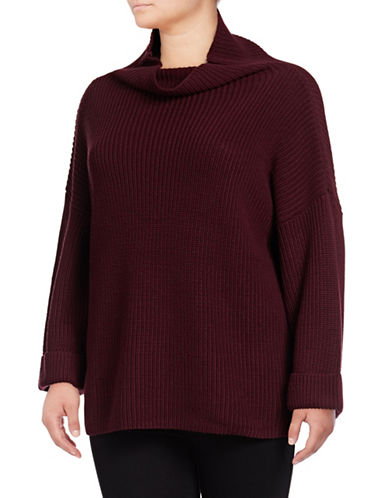 Lord & Taylor Plus Comfy Sweater-PURPLE-0X