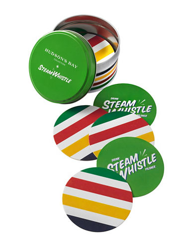 HudsonS Bay Company X Steam Whistle 25 Pack of Coasters and Tin-MULTI-One Size