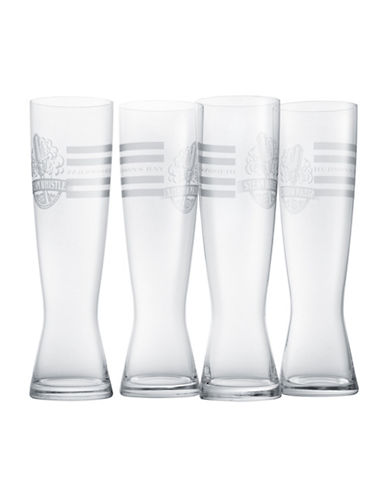 HudsonS Bay Company Set Of Four Steam Whistle Etched Pilsner Glasses-CLEAR-One Size