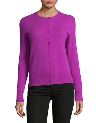 Lord & Taylor Cashmere Cardigan-VIOLA-Medium