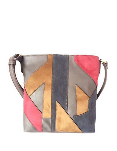 Mark Adam Patch Crossbody Bag-GREY-One Size