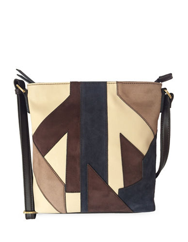 Mark Adam Patch Crossbody Bag-BROWN-One Size