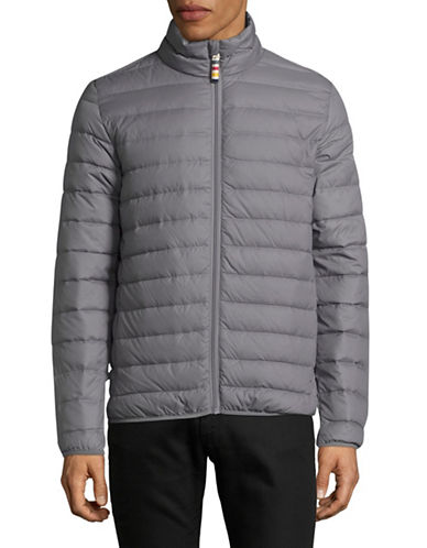 HudsonS Bay Company Mens Packable Puffer Jacket-GREY-Small