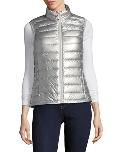HudsonS Bay Company Womens Packable Puffer Vest-SILVER-Small