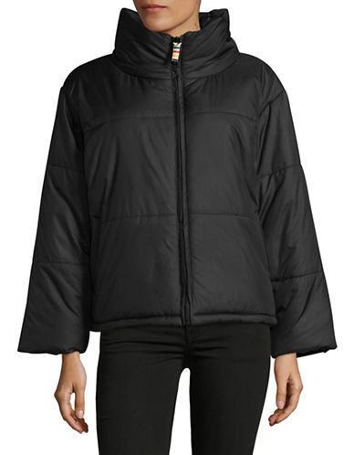 HudsonS Bay Company Womens Boxy Puffer Jacket-BLACK-Medium