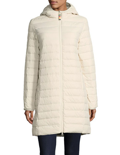 HudsonS Bay Company Womens Packable Three-Quarter Puffer Jacket-IVORY-Medium