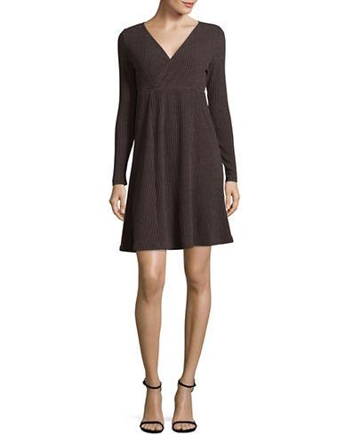 Manguun Ribbed T-Shirt Dress-GREY-X-Large