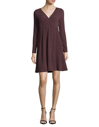 Manguun Ribbed T-Shirt Dress-FUDGE-Medium
