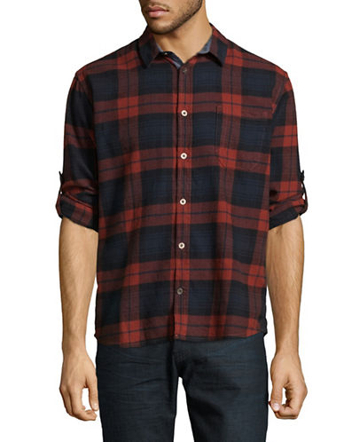 Manguun Plaid Cotton Sport Shirt-PICANTE-Medium