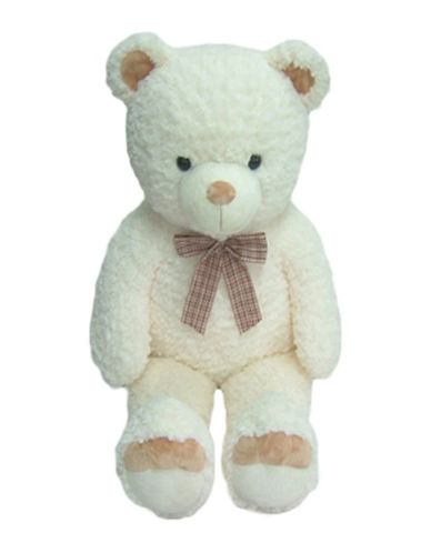 Bob Der Bar Ribbon Bow Plush Teddy Bear-WHITE-One Size