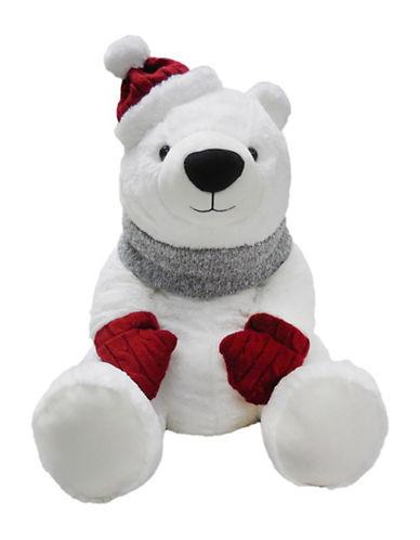 Bob Der Bar Polar Teddy Bear with Hat-WHITE-One Size