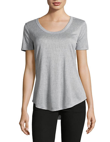 H Halston U-Neck T-Shirt-TWILIGHT BLUE-Large