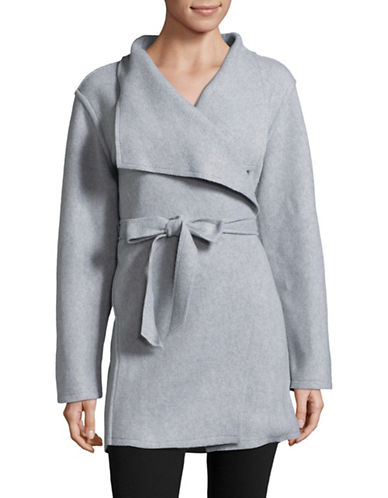 Lord & Taylor Flyaway Robe-GREY-Medium