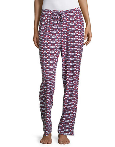 Lord & Taylor Heart Drawstring Pants-RED-X-Large