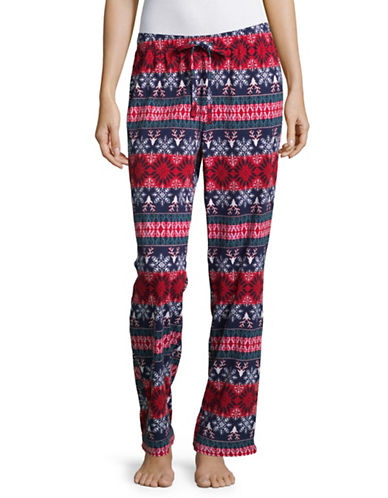 Lord & Taylor Heart Drawstring Pants-REINDEER-X-Large