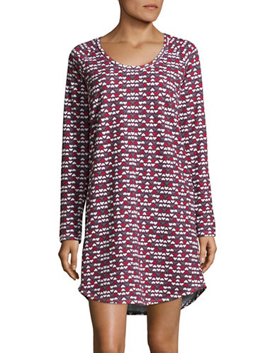 Lord & Taylor Graphic Long-Sleeve Sleepshirt-SWIRL-Large