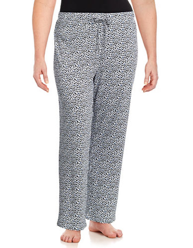 Lord & Taylor Plus Star Print Pyjama Pants-STARLIGHT-3X