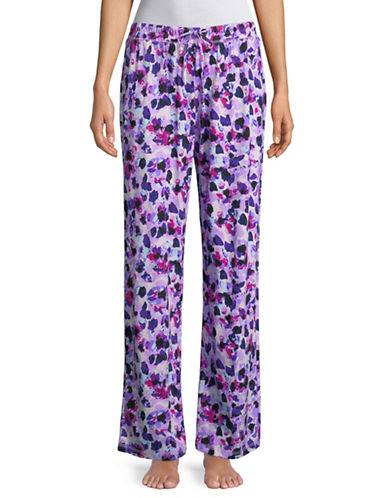 Lord & Taylor Paisley Cotton Pyjama Pants-MULTI-Large