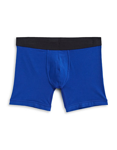 1670 Basic Boxer Brief-BLUE-Medium