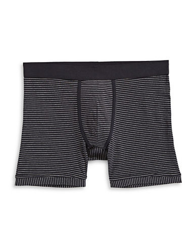 1670 Stripe Boxer Briefs-BLACK/GREY-Small