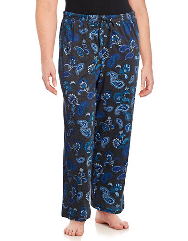 Lord & Taylor Plus Printed Pyjama Pants-CHARCOAL-3X