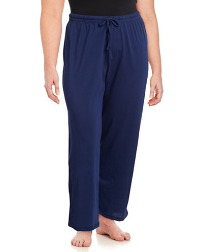 Lord & Taylor Plus Printed Pyjama Pants-NAVY NIGHT-2X