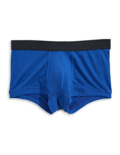 1670 Contrast Waist Trunks-BLUE-X-Large