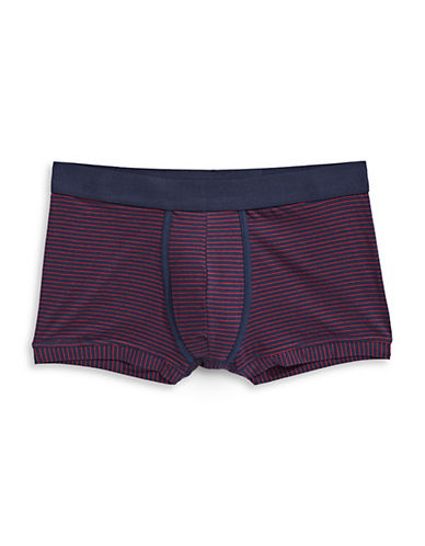 1670 Stripe Trunks-NAVY/RED-Large