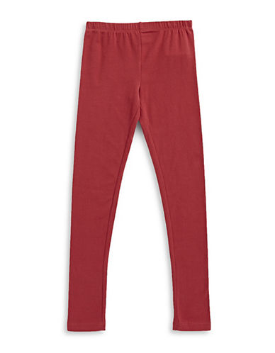 Manguun Cotton Stretch Leggings-RED-Medium 89502623_RED_Medium