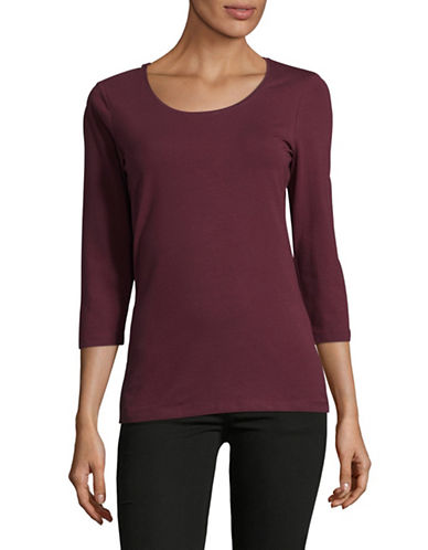 Lord & Taylor Begonia Three-Quarter Sleeve Top-BEGONIA-Small