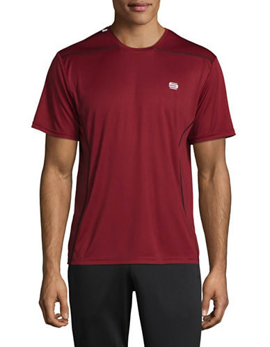Manguun Printed Stretch Tee-RED-X-Large