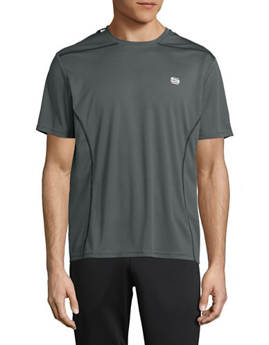 Manguun Printed Stretch Tee-GREY-Medium